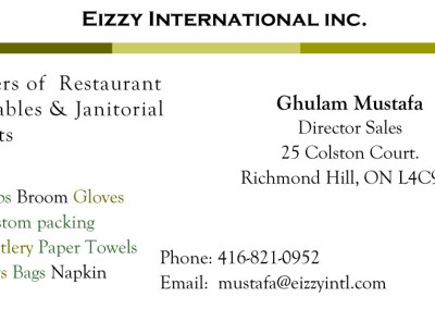 Eizzy Business Card