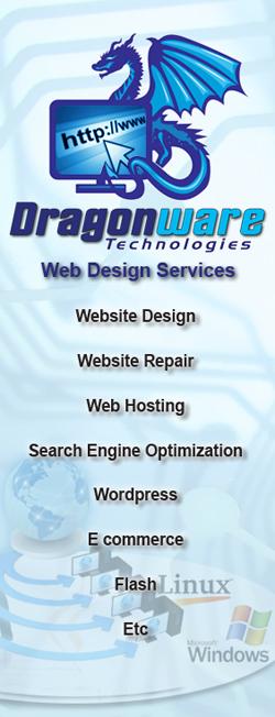 Khalie Dragonware Webdesign
