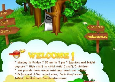 Kids Land Day Care Flyer