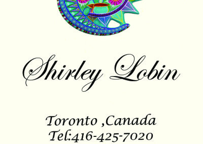 Shirley Lobin Front Business Card ivory