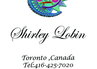 Shirley Lobin Front Business Card white