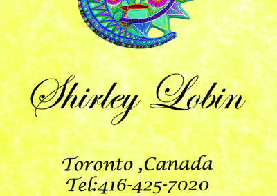 Shirley Lobin Front Business Card yellow texture
