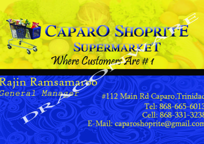 Shoprite Business Card 1 Front.